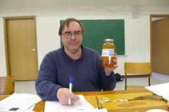 Brian Campbell: Local honey given to him as thanks for the grafting workshop.