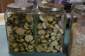 I like having my dried veggies on hand in the kitchen; they're part of my Fast, Slow Food pantry.